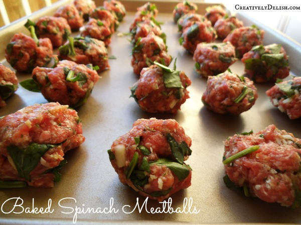 Baked Spinach Meatballs