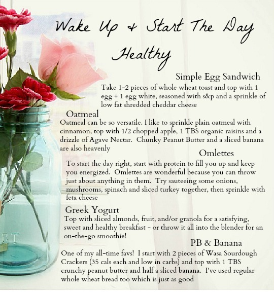 Wake Up and Start the Day Healthy