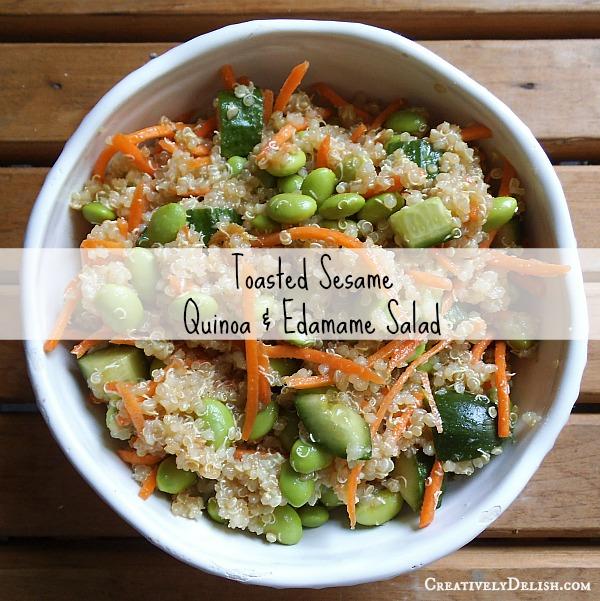 Toasted Sesame Quinoa & Edamame