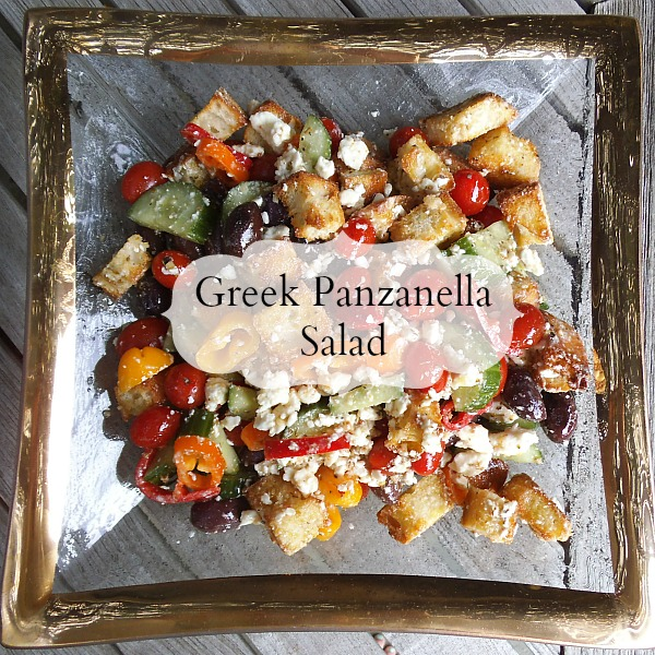 greek panzanella salad - creatively delish