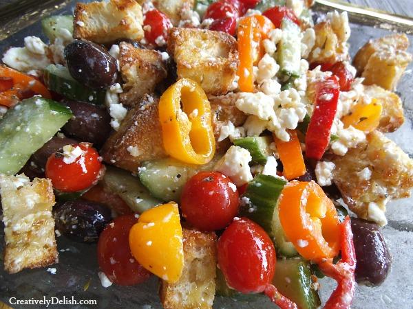 Ina garten panzanella salad greek panzanella salad Barefoot contessa panzanella