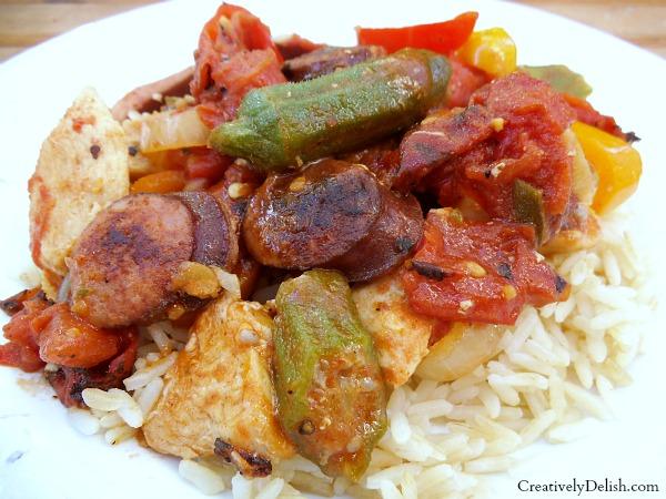 chicken and keilbasa gumbo