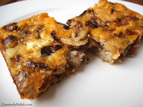 chorizo & onion frittata plate