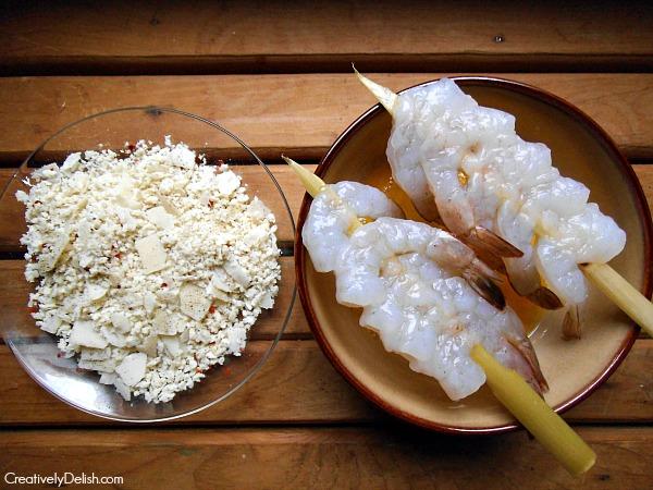 parmesan shrimp and succotsh 006