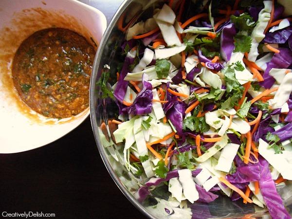 kale salad & cabbage salad 031