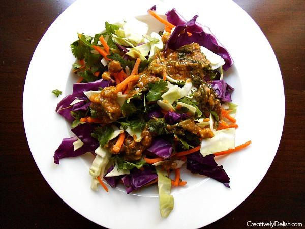 kale salad & cabbage salad 040