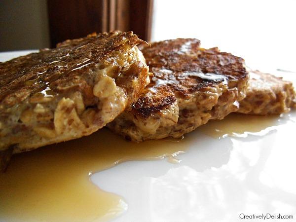 banana flax pancakes 004