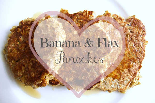 banana flax pancakes 007