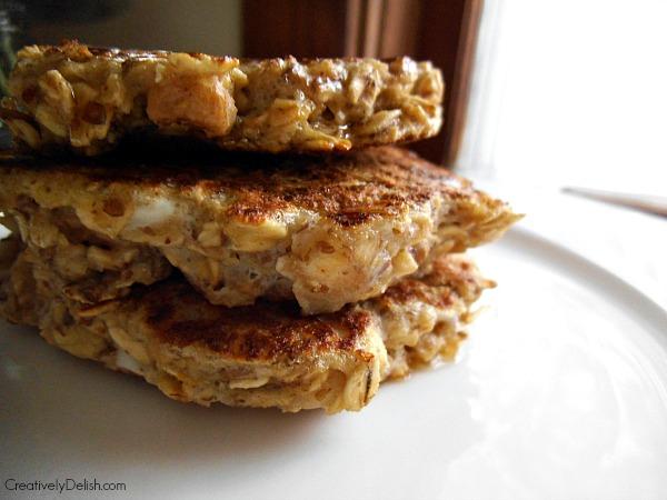 banana flax pancakes 008