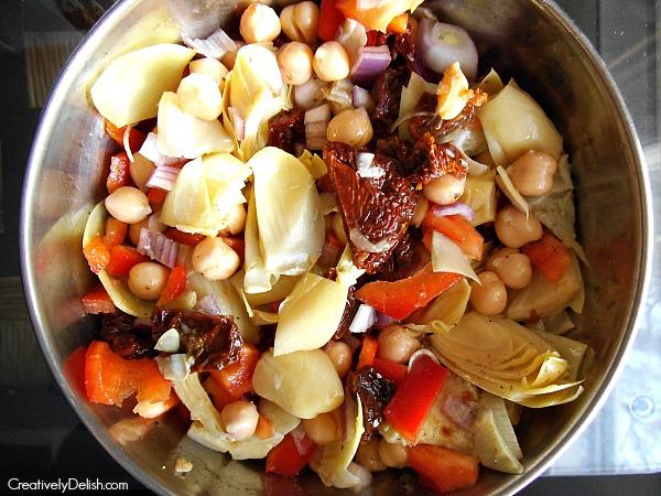 italian chickpea salad 001