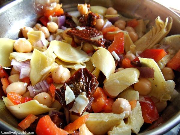 italian chickpea salad 002