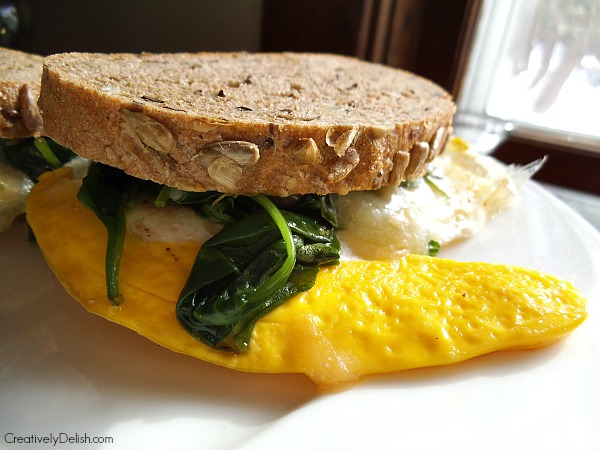 spinach and egg sandwich 001