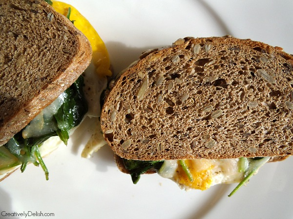 spinach and egg sandwich 005