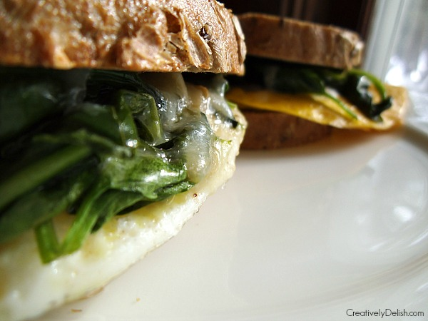 spinach and egg sandwich 006