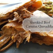 Shredded Beef Carnitas Quesadillas